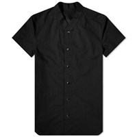 Rick Owens Short Sleeve Vacation Shirt Black