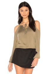 Michael Stars Cold Shoulder Top Olive