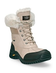 Ugg Adirondack Ii Lace Up Shearling Lined Leather Boots Sand