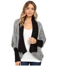 Lamade Joshua Cardigan Black White Women's Sweater