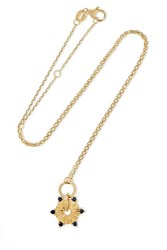 Foundrae 18 Karat Gold Sapphire Necklace One Size