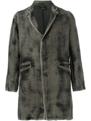 Avant Toi Distressed Jacket Green