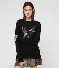 Allsaints Lovers Wave T Shirt Black