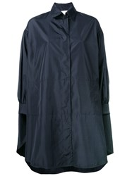 Gianluca Capannolo Rain Coat Blue