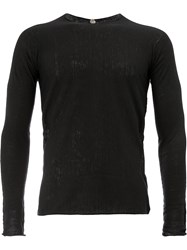 Label Under Construction Classic Fitted Sweater Black
