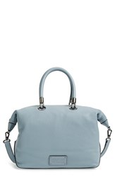 Marc By Marc Jacobs 'Too Hot To Handle' Leather Satchel Blue Ice Blue