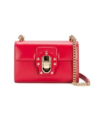 Dolce And Gabbana Mini Red Lucia Messenger Bag