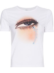 Adam Selman Eye Print T Shirt White