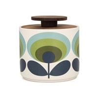 Orla Kiely '70S Flower Storage Jar Green