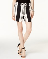 Inc International Concepts Striped Pull On Shorts Only At Macy's Deep Black White Stripe