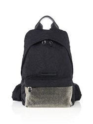 Mcq By Alexander Mcqueen Studded Wrinkle Nylon Backpack Black