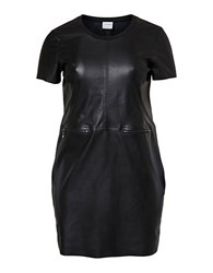 Junarose Faux Leather Sheath Dress