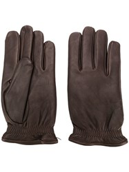 Orciani Perfectly Fitted Gloves Brown