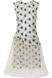 Michael Van Der Ham Lucy Floral Lace And Organza Dress