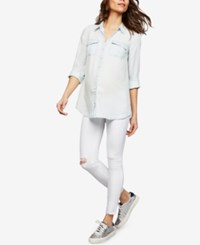 A Pea In The Pod Ag Jeans Maternity Skinny Ankle Jeans Uncharted White