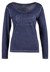 Napapijri Shoved Long Sleeved Top Blu Marine Dark Blue