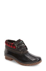 G.H. Bass Women's And Co. Dorothy Waterproof Duck Boot Black Plaid Rubber