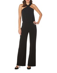 Laundry By Shelli Segal Solid X Front Jumpsuit Black