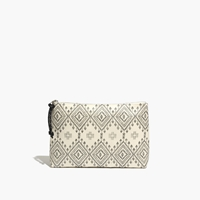 Madewell Coated Canvas Zip Pouch Bleached Linen