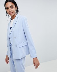 B.Young Double Breasted Suit Blazer Sky Blue
