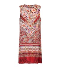 Gottex Floral Print Silk Sleeveless Dress Female Multi