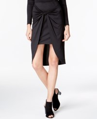 Kensie Draped Knot Detail Skirt Black