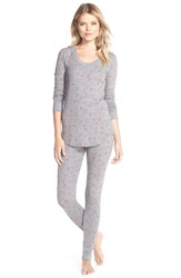 Make Model Thermal Pajamas Grey Steel Heather Rose
