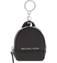 Michael Michael Kors Rhea Leather Backpack Keychain Black
