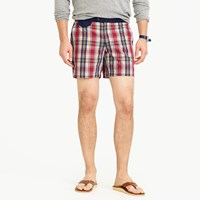 J.Crew 6.5 Tab Swim Short In Plaid