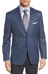 Jb Britches Men's Classic Fit Herringbone Wool Sport Coat