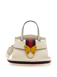 Guccitotem Grained Leather Bag White Multi