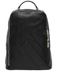 Bikkembergs Perforated Leather Backpack