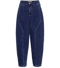 See By Chloe Curved High Rise Jeans Blue