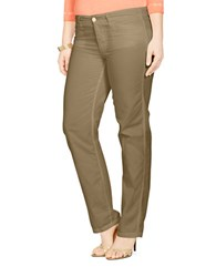 Lauren Ralph Lauren Plus Rolled Cuff Chino Pants Olive