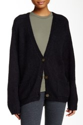 American Apparel Mohair Blend Loose Cardigan Black