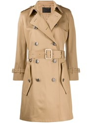 Givenchy Belted Trench Coat Neutrals