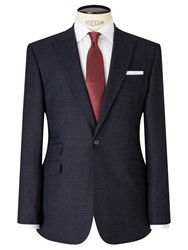 John Lewis Crepe Peak Lapel Tailored Suit Jacket Navy