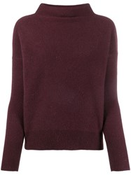 Vince Knitted Cashmere Sweater Purple