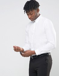 Paul Smith Shirt With Contrast Under Cuff In White Tailored Slim Fit White