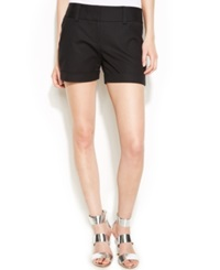 Vince Camuto Cuffed Shorts Rich Black