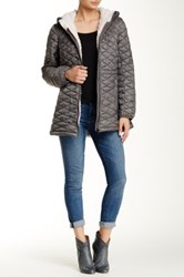 Steve Madden Fleece Lining Jacket Gray