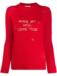 Giada Benincasa Slogan Embroidery Wool Jumper 60