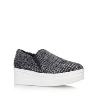 Kurt Geiger Lizard Flat Platform Slip On Shoes Grey