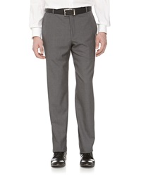 Hickey Freeman Tonal Micro Check Dress Pants Gray