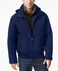 Weatherproof Vintage Men's Oxford Hooded Bomber Artic Blue