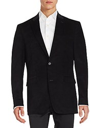 Tommy Hilfiger Corduroy Elbow Patched Sportcoat Black
