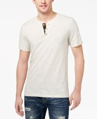 American Rag Men's Camo Henley Created For Macy's Oat Hthr
