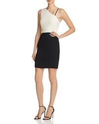 Elizabeth And James Marie Color Block Sheath Dress Black Ivory