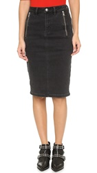 Marc By Marc Jacobs Pencil Skirt Stone Black