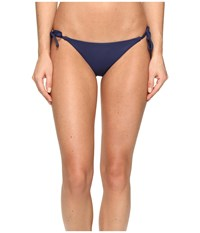 Becca Color Code Tie Side Bottom Dark Denim Women's Swimwear Navy